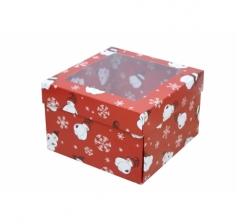Коробка с окном 150*150*100 мм, дизайн НГ2020-1