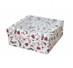 Коробка с окном 190*190*80 мм, дизайн НГ2020-14