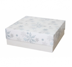 Коробка 230*230*80 мм, дизайн НГ2020-12, белое дно