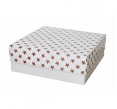 Коробка 230*230*80 мм, дизайн НГ2020-11, белое дно