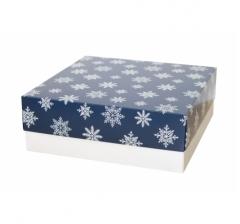 Коробка 230*230*80 мм, дизайн НГ2020-2, белое дно