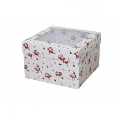 Коробка с окном 150*150*100 мм, дизайн НГ2020-10
