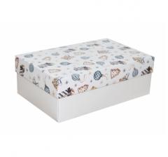 Коробка 230*150*80 мм, дизайн НГ2020-4, белое дно