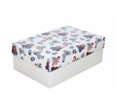 Коробка 230*150*80 мм, дизайн НГ2020-8, белое дно
