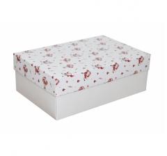 Коробка 230*150*80 мм, дизайн НГ2020-10, белое дно