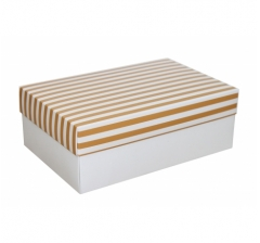 Коробка 230*150*80 мм, дизайн НГ2020-15, белое дно