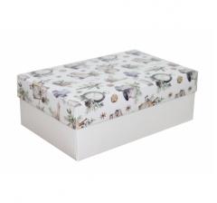 Коробка 230*150*80 мм, дизайн НГ2020-18, белое дно