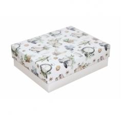 Коробка 190*150*60 мм, дизайн НГ2020-18,белое дно