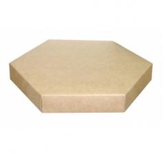 Коробка-шестигранник самосборная 200*200*30 мм, крафт