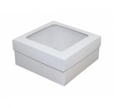 Коробка 150*150*70 мм, белая с окном