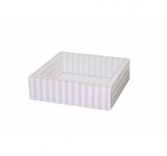Коробка 175*175*50 мм с прозрачной крышкой, дизайн 2020-71