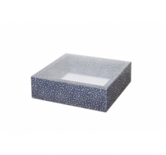 Коробка 175*175*50 мм с прозрачной крышкой, дизайн 2020-76