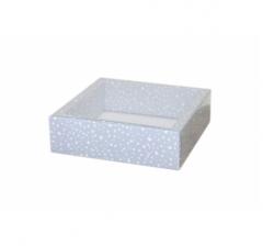 Коробка 175*175*50 мм с прозрачной крышкой, дизайн 2020-77
