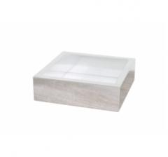 Коробка 175*175*50 мм с прозрачной крышкой, дизайн 2020-78