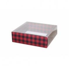 Коробка 175*175*50 мм с прозрачной крышкой, дизайн 2020-84