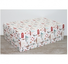 Коробка подарочная 390*270*130 мм, дизайн 2020-63