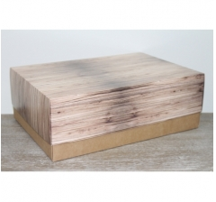 Коробка подарочная 390*270*130 мм, дизайн 2020-57 крафт дно