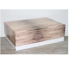 Коробка подарочная 390*270*130 мм, дизайн 2020-57 белое дно