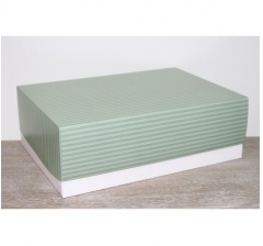 Коробка подарочная 390*270*130 мм, дизайн 2020-65 белое дно