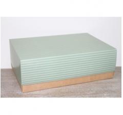 Коробка подарочная 390*270*130 мм, дизайн 2020-65 крафт дно
