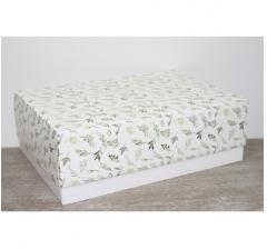 Коробка подарочная 390*270*130 мм, дизайн 2020-54 белое дно