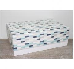 Коробка подарочная 390*270*130 мм, дизайн 2020-64 белое дно