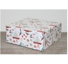 Коробка 20*20*8,5 см, дизайн 2020-63, ДП81