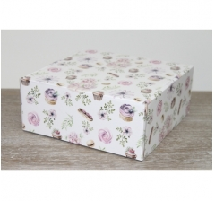 Коробка 20*20*8,5 см, дизайн 2020-55, ДП81