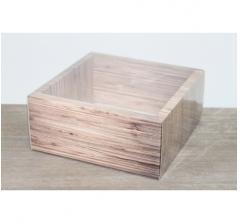 Коробка 230*230*100 мм с прозрачным чехлом, дизайн 2020-57