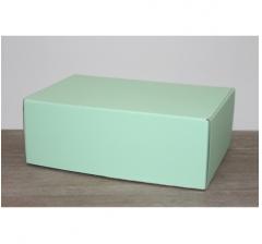 Коробка 28*19*10,5 см, светло-зеленый (дизайнерская бумага)