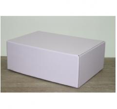 Коробка 28*19*10,5 см, сирень (дизайнерская бумага)
