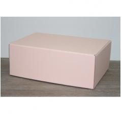 Коробка 28*19*10,5 см, лосось (дизайнерская бумага)
