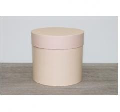 Коробка для цветов круглая, d-120, h-110, нежно-карамельный