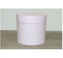 Коробка для цветов круглая, d-120, h-110, сиренево-розовый