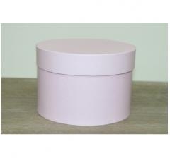 Коробка для цветов круглая, d-150, h-105 мм, сиренево-розовый