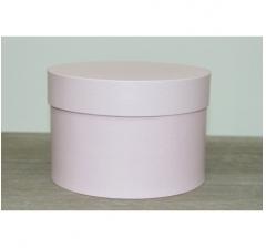Коробка для цветов круглая, d-150, h-105 мм, нежно-розовый
