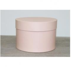 Коробка для цветов круглая, d-150, h-105 мм, нежно-карамельный