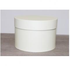 Коробка для цветов круглая, d-150, h-105 мм, ванильный