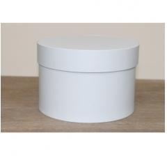 Коробка для цветов круглая, d-150, h-105 мм, бело-голубой