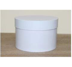Коробка для цветов круглая, d-150, h-105 мм, холодный голубой