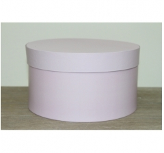 Коробка для цветов круглая, d-200, h-110 мм, сиренево-розовый
