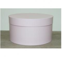 Коробка для цветов круглая, d-200, h-110 мм, нежно-розовый