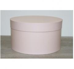 Коробка для цветов круглая, d-200, h-110 мм, нежно-карамельный