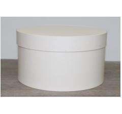 Коробка для цветов круглая, d-200, h-110 мм, ванильный