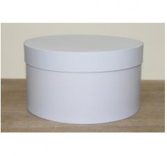 Коробка для цветов круглая, d-200, h-110 мм, холодный голубой