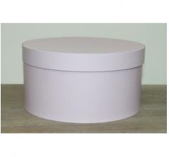 Коробка для цветов круглая h-120 d-235 мм, сиренево-розовый