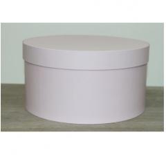 Коробка для цветов круглая h-120 d-235 мм, нежно-розовый