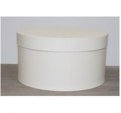 Коробка для цветов круглая h-120 d-235 мм, ванильный