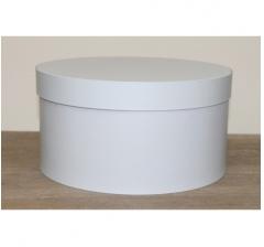 Коробка для цветов круглая h-120 d-235 мм, бело-голубой