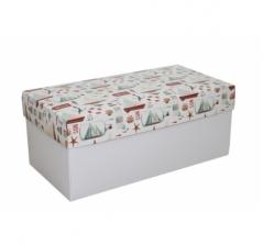 Коробка подарочная 360*180*150, дизайн 2020-11, белое дно
